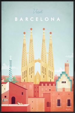 Barcelona affiche encadrée