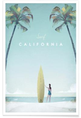 Vintage-Kalifornien-Reise -Poster