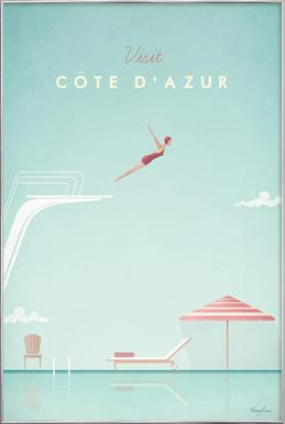 Côte d'Azur -Poster im Alurahmen