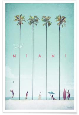 Vintage Miami - reizen poster