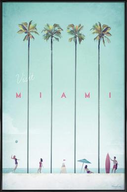 Miami Affiche sous cadre standard