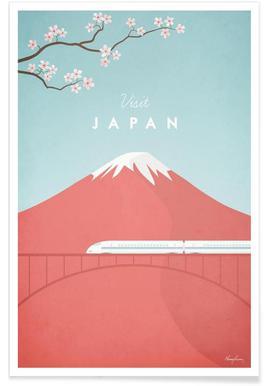 Vintage-Japan-Reise -Poster