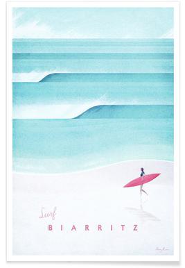 Vintage-Biarritz-Reise -Poster