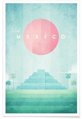 Vintage Mexico - reizen Poster