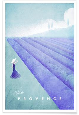 Vintage Provence - reizen poster