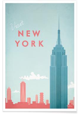 Vintage New York - reizen poster