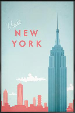 New York affiche encadrée