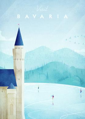 Bavaria Leinwandbild