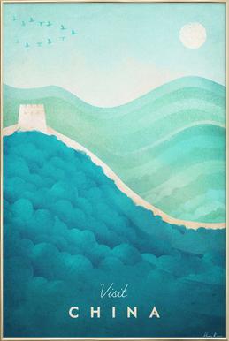 China Poster im Alurahmen