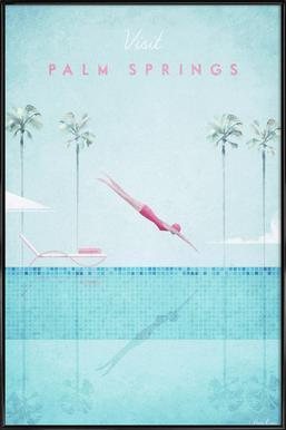 Palm Springs Poster im Kunststoffrahmen