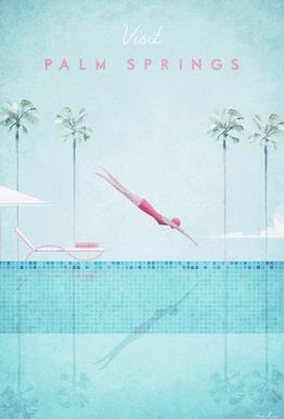 Palm Springs Acrylglasbild