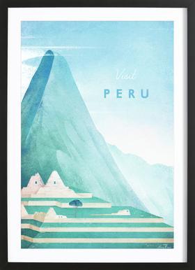 Peru -Bild mit Holzrahmen