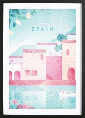 Spain Poster im Holzrahmen