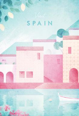 Spain Acrylglasbild