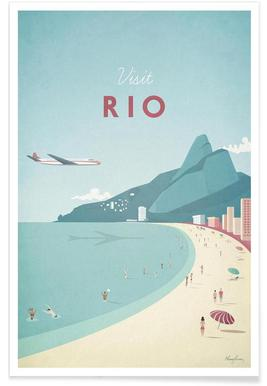 Vintage Rio Travel Poster
