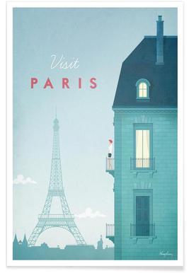 Vintage Parijs - reizen Poster