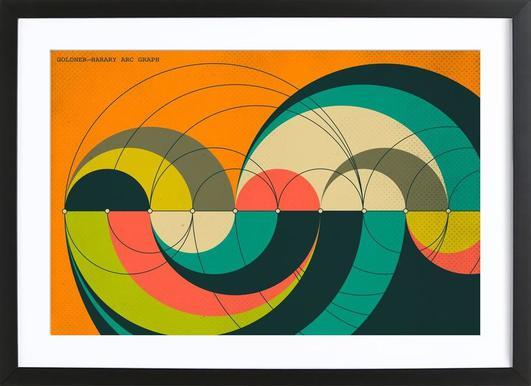 Goldner-Harary Graph Poster im Holzrahmen