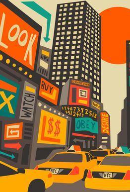 Time Square day -Acrylglasbild
