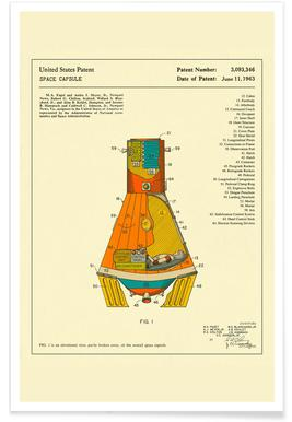 Space Capsule Poster