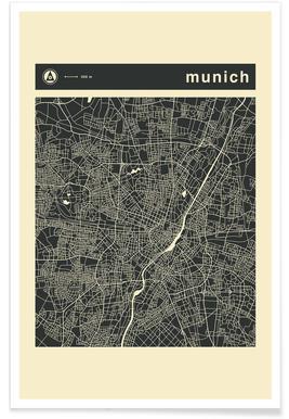 City Maps Series 3 Series 3 - Munich Poster