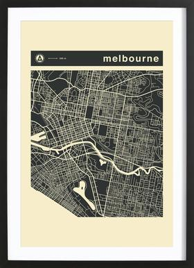 City maps series 3 series 3 melbourne as premium poster juniqe poster in wooden framefrom 3999 gumiabroncs Gallery