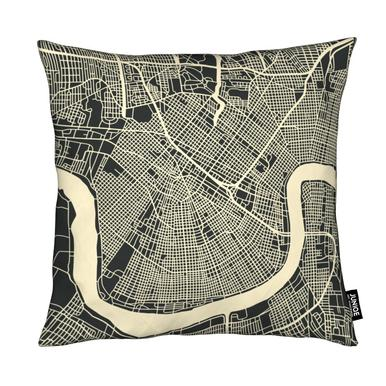 City Maps Series 3 - New Orleans Cushion