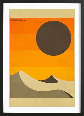Death Valley National Park Poster im Holzrahmen