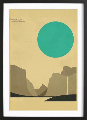 Yosemite National Park Poster im Holzrahmen