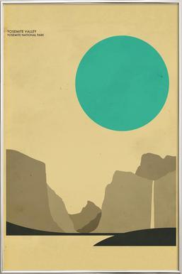 Yosemite National Park -Poster im Alurahmen