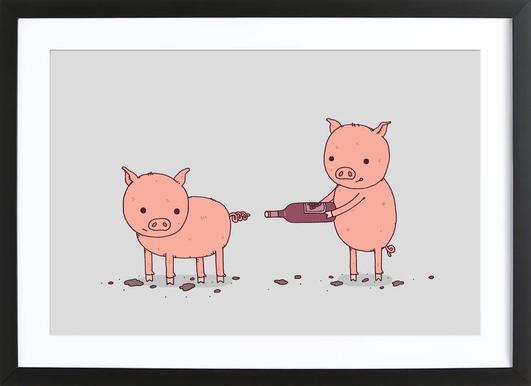 That'll Do Pig affiche sous cadre en bois