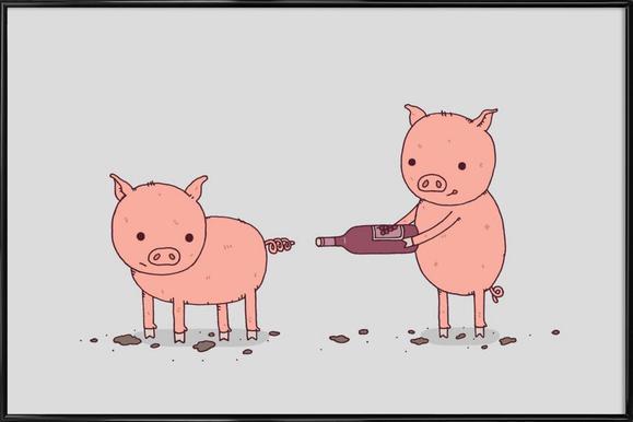 That'll Do Pig -Bild mit Kunststoffrahmen