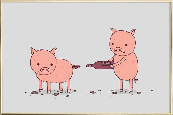 That\'ll Do Pig as Poster in Standard Frame by Jaco Haasbroek | JUNIQE