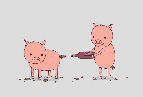 That'll Do Pig tableau en verre