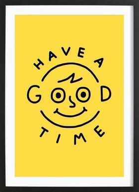 Good Times Poster im Holzrahmen