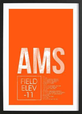 AMS Amsterdam Framed Print