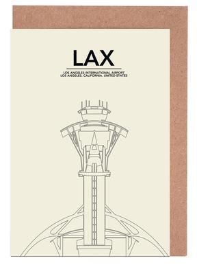 LAX Los Angeles Tower Greeting Card Set