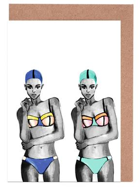 double trouble Greeting Card Set