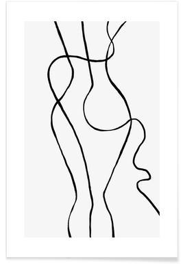 Silhouettino -Poster