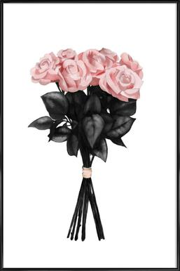Pink Bouquet Poster im Kunststoffrahmen