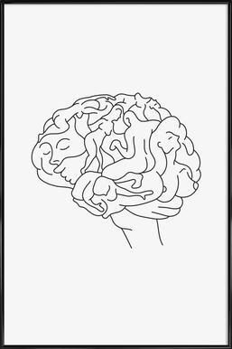 Brainstorm Affiche sous cadre standard