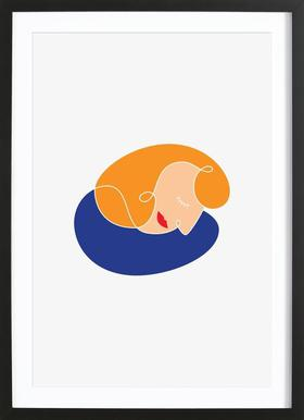 Sleeping Poster in Wooden Frame