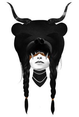 Bear Warrior acrylglas print