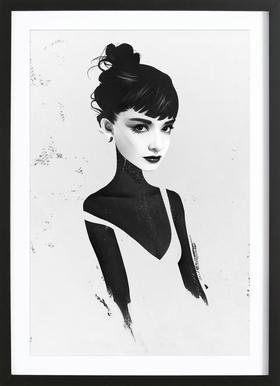 Oh, Audrey ingelijste print