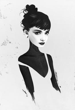 Oh, Audrey Plakat af aluminum