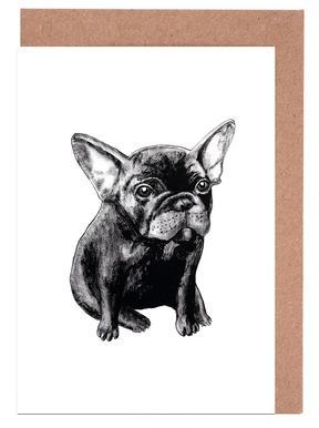 French Bulldog Set de cartes de vœux
