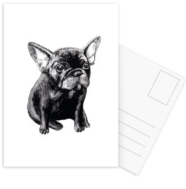 French Bulldog ansichtkaartenset