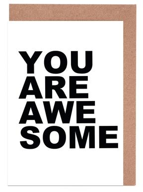 You Are Awesome cartes de vœux