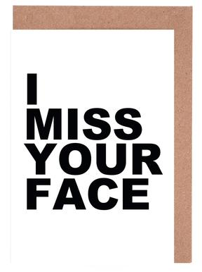 I Miss Your Face cartes de vœux