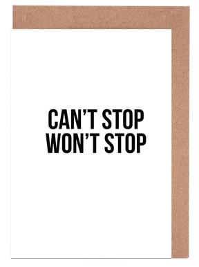Can't Stop Won't Stop wenskaartenset