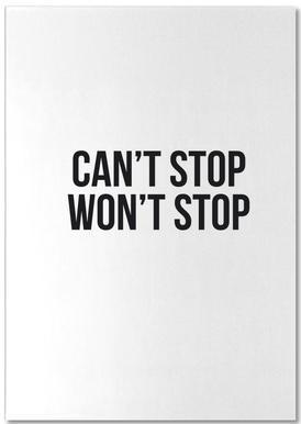 Can't Stop Won't Stop notitieblok